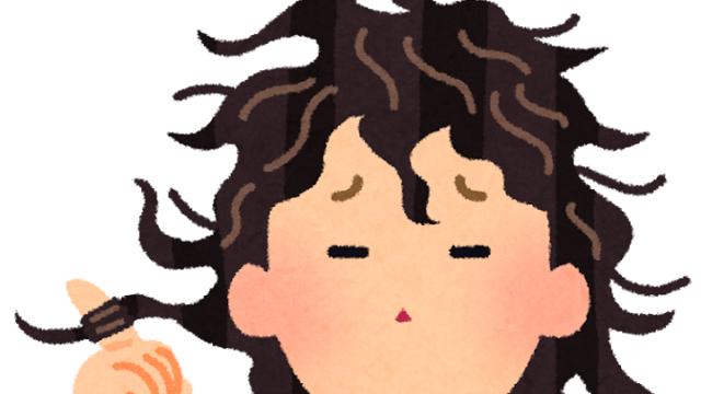 髪が膨らむ人