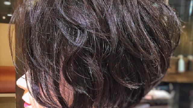 猫毛でパーマ トップボリューム