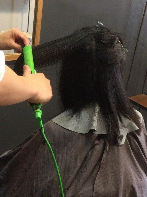 アイロンで切れ毛