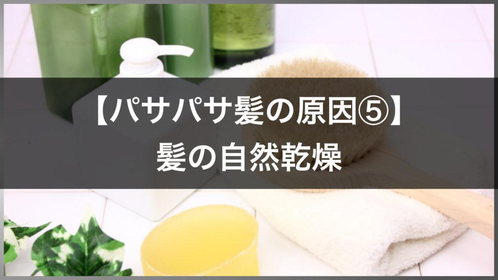 原因⑤髪の自然乾燥