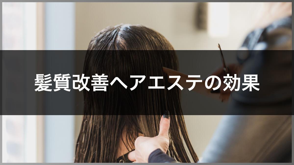髪質改善ヘアエステの効果